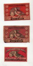 VERY OLD match box labels CHINA or JAPAN patriotic   Birds  #332
